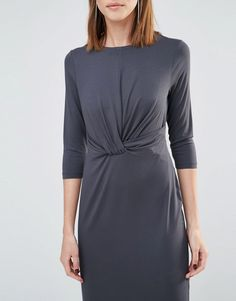 Image 3 ofWhistles Ferrie Twist Front Dress (Exclusive)