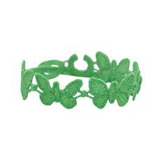 """Cruciani """"Schmetterling Neongrün""""    - Schmetterlingsarmband von Cruciani aus Italien   http://www.blissany.com/marken/cruciani.html"""
