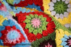 #Crochet squares blanket free pattern from Laurel's Place