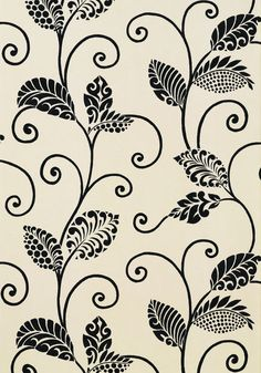 Waterbury Trail #wallpaper in #black from the Avalon collection. #Thibaut