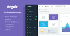 Buy Angulr - Bootstrap Admin Web App with AngularJS by Flatfull on ThemeForest. Admin web application template with Bootstrap 3 and AngularJS. Using grunt and bower with bootstrap and angular, feat. Dashboard Template, Bootstrap Template, Wordpress Template, Wordpress Theme, Html Website Templates, Template Site, Website Design Inspiration, Google Material Design, User Settings