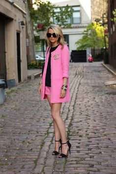 Pink Chanel jacket