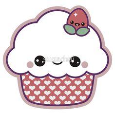 Cute Strawberry Cupcake by sugarhai