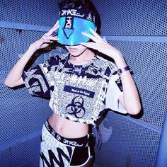 We R From The FutureDAMAGE™ 2015 SS WWiii™ No signal Mesh Crop Tee X Future Vizor X WWiii™ 3 Way Apron  #DAMAGE #DAMAGEgroup #DAMAGEinc #DMG #2015 #WWiii #SS #collection #nosignal #mesh #top #crop #tee #future #vizor #laser #tron #3way #apron #skirt #accessory #cyber #grid #space #street #style #AMPM #AMPMshop (Model  @fishallier & Photo  @pin_chun7 )