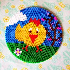 Easter chicken hama beads by mrsvivekacsiger
