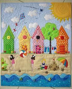 fun seaside scene quilt