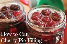 Canning 101 Recipe – Cherry Pie Filling