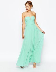 e1aa8da7560b Image 4 of ASOS WEDDING Ruched Bodice Bandeau Maxi Dress Mieder, Asos  Brautjungfer Kleid,