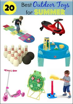 During the summer, my kids spend hours each day outdoors. Here is our list of the 20 Best Outdoor Toys for Summer. What are your favorites?