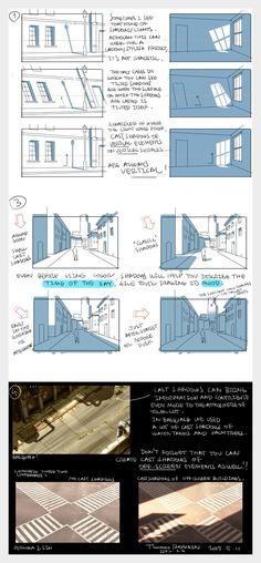 Backgrounds: working with shadows - by Thomas Romain (one of the few foreigners working in the anime industry in Japan)