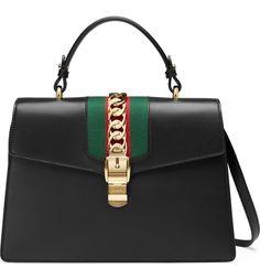Main Image - Gucci Sylvie Top Handle Leather Shoulder Bag