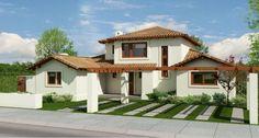 fachadas para casas de una planta   Diseño de interiores