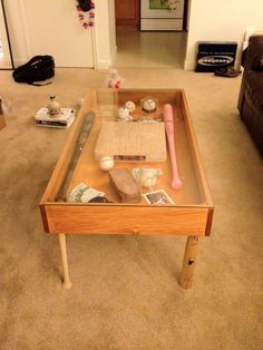 Baseball bat coffee table Coffe table Pinterest