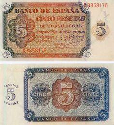 1938- Billete de 5 pesetas, Burgos