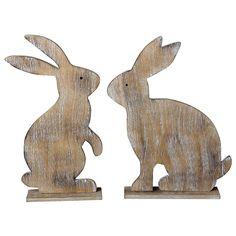 Holz Hasen Silhouetten Set