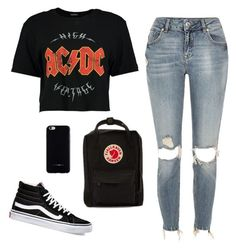 """""""AC/DC ❤️"""" by paulina-dl on Polyvore featuring Boohoo, River Island, Vans, Fjällräven and Felony Case"""