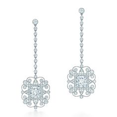 Orecchini con diamanti Lucida®, in platino. Tiffany