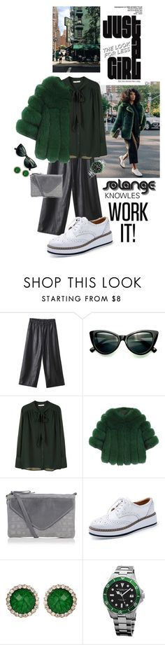 """""""SOLANGE KNOWLES..WORK IT!!"""" by shortyluv718 ❤ liked on Polyvore featuring WithChic, MANGO, Amrita Singh and Stührling"""