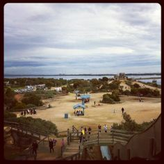 Photo by @aziraezryn via Instagram and Twitter of the view from the Mountain at St Kilda Playground, South Australia. Thank you for your pictures. @cityofsalisbury #stkildaplayground #playground #fun