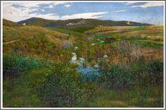 Adolfo Tommasi (1851-1933), Paysage près de Pise.