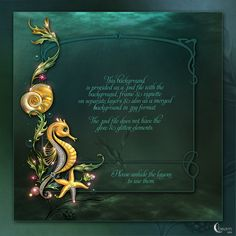 Moonbeam's Treasures of the Sea is an imaginary package created with bejewelled sea creatures, flowing colorful weeds and precious gems in a rich sea color palette.