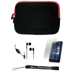 Red/Black Sleeve with Interior Fur Padding for Samsung Galaxy Tablet + Includes a Durable Screen Protector + Includes a 360° Rotatable Windshield Mount by eBigValue. $19.99. Cover Sleeve with Interior Fur Padding for Samsung Galaxy Tablet Protection for your tablet. Comes with two way zipper opening, small accessory pocket inside, and cover edges to keep Galaxy secure. Light weight for hand mobility and scratch resistant. The cover is made to keep your tablet safe and...