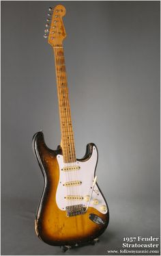 Wow  1957 Stratocaster. My sweetheart's dream guitar.