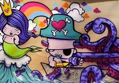 Brazilian street artist, TOZ
