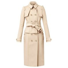 Burberry Corset Trench Coat (€2.670) found on Polyvore featuring women's fashion, outerwear, coats, burberry, coats & jackets, jackets, fitted coat, pink coat, leather belts and trench coat