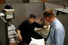 Stephen King.  Royal typewriter.  Boston Red Sox cap.  'Nuff said.