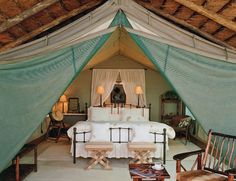 Indoor bedroom tent ... AMAZING!  @Steve kotrc, Mooshie can we have this in our bedroom in our 'someday dream house?'