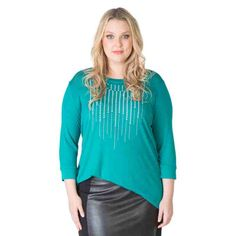 PRE-ORDER - Stud Front Top (EVERGREEN) $79.95 http://www.curvyclothing.com.au/index.php?route=product/product&path=95_104&product_id=6846&limit=75