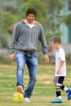 Beckham Playing With His Son