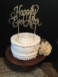 Happily Ever After Cake Topper by cmorrisdesigns on Etsy