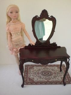 1:4 scale mahogany Bespaq swan vanity on ebay now