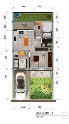 Denah Rumah 452541462558392178 - Source by Small House Layout, Modern Small House Design, House Layout Plans, Minimalist House Design, House Layouts, Modern House Floor Plans, Small House Plans, Home Building Design, Home Design Plans