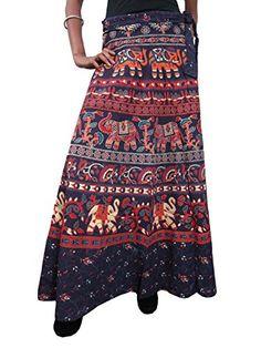 Womens Long Skirt Elephant Printed Boho Gypsy Wrap Around Maxi Skirt Mogul Interior http://www.amazon.com/dp/B00QQ04J8C/ref=cm_sw_r_pi_dp_1wVIub0SSE4WP