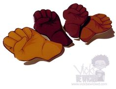Melanin BLM Black Fist Black Pride Afrocentric by VickiBeWicked