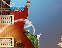 The music nature by Jerico Santander, via Behance
