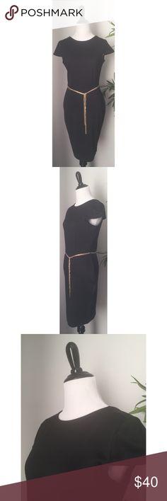 U-back Ponte Sheath w/ Belt Loops NWOT Classic lbd for work or cocktails; easy transition dress! Forever 21 Dresses