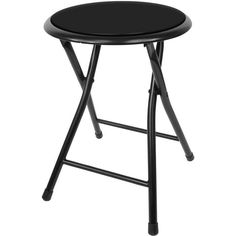 82-7879 18 Inch Cushioned Folding Stool - Trademark Home Collection