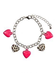 Animal Hearts Charm Bracelet | Justice