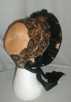 Victorian 1860's Straw Bonnet Museum de Accessioned | eBay