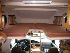 diy over the cab drop down beds - Google Search