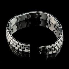 Pulseira Steel Collection de Elo Liso e Fosco