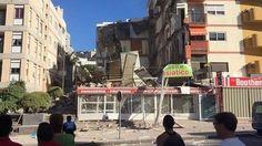 Al menos nueve desaparecidos tras el desplome de un edificio en Tenerife