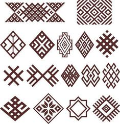 Hungarian Embroidery Pattern Bashkir (Ethnic group in Russia) traditional folk embroidery ornaments (vector) Russian Embroidery, Folk Embroidery, Learn Embroidery, Embroidery Stitches, Embroidery Patterns, Ethnic Patterns, Geometric Patterns, Motifs Aztèques, Inka