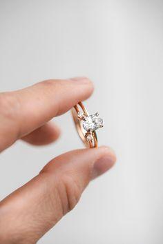 Two brilliant white diamonds perfectly hug around a center stone or add texture to a stack. #considerthewldflwrs