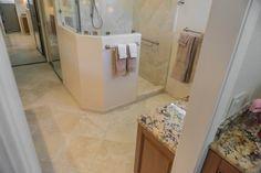 View of shower from water closet. Bath design & remodeling by Danilo Nesovic, Designer · Builder (dndb.info)