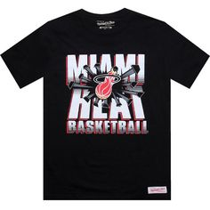 Mitchell and Ness Miami Heat Blank Tshirt in black